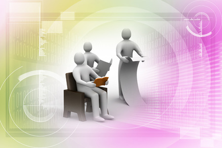 seated: 3d people reading