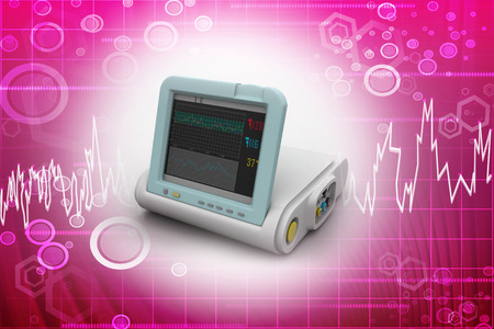 blood pressure monitor: Digital Blood Pressure Monitor Stock Photo