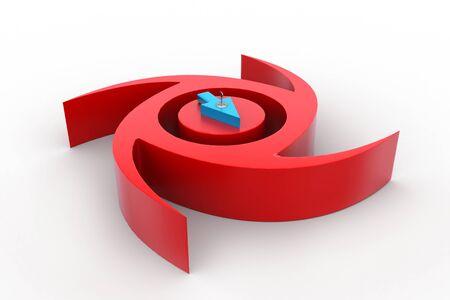 Rotating arrow Banco de Imagens