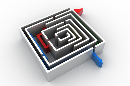 red arrow in the Maze photo