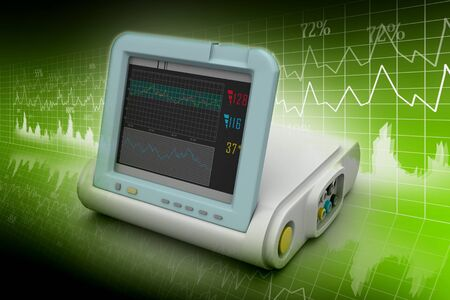 blood pressure monitor: Digital Blood Pressure Monitor Stock Photo