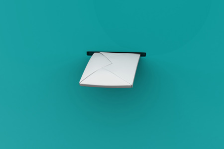 posting: Letter posting the mail box