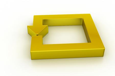Golden arrow square photo