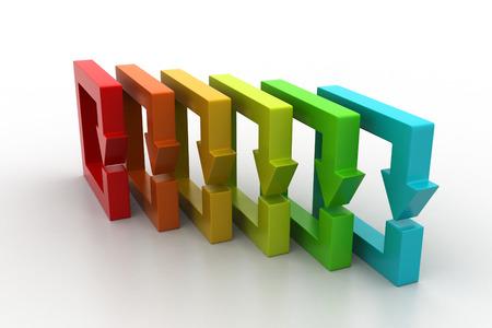 Multi colored arrow square photo
