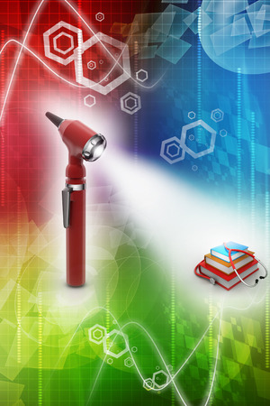 general knowledge: Otoscope and medical text books