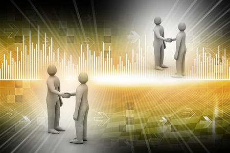 explains: 3d people - men, person talking