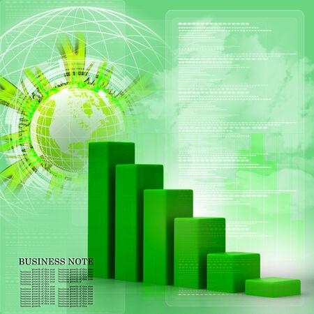 Business graph photo