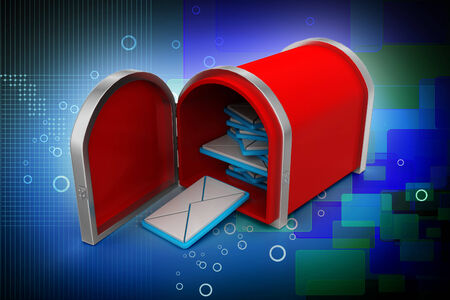 mail box with letters Stock Photo