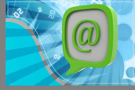 E mail icon in speech bubble photo