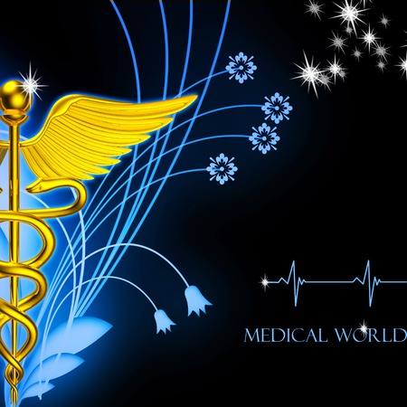 3d medical logo on a colour