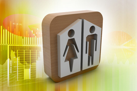 man and woman icons photo