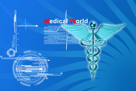 3d medical on a colour background