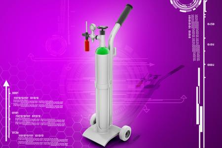 Digital illustration of oxygen cylinder Stock Photo