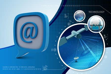 hi end: E mail icon in speech bubble