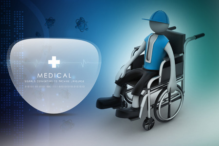 paralyze: person handicapped in a wheelchair Stock Photo