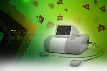 fetal: Fetal monitor Stock Photo