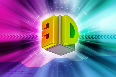 stereoscope: 3D logo isolated on  background Stock Photo