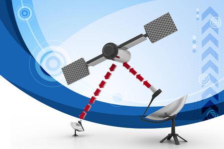 airwaves: satellite dish antennas