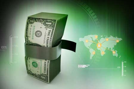 batch: Bundle of dollar notes