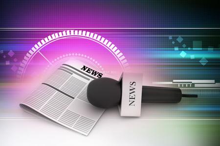 Microfoon met krant