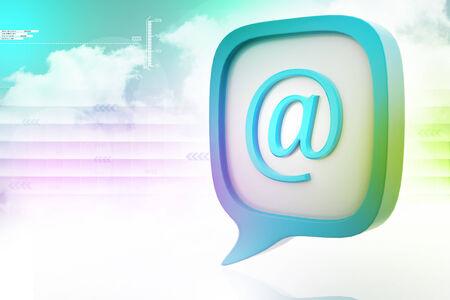 e mail: E mail icon in speech bubble