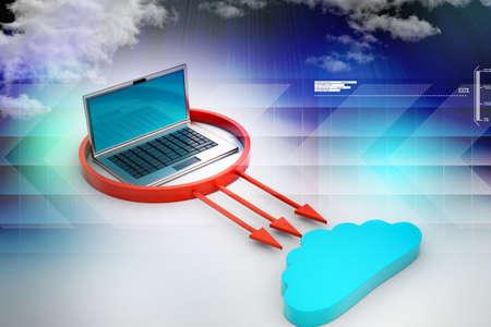 accessing: cloud computing concept