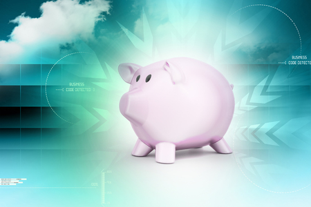 pink piggy bank, investment concept photo