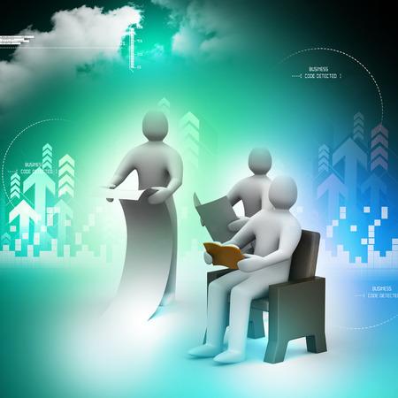 personas leyendo: 3d personas que leen