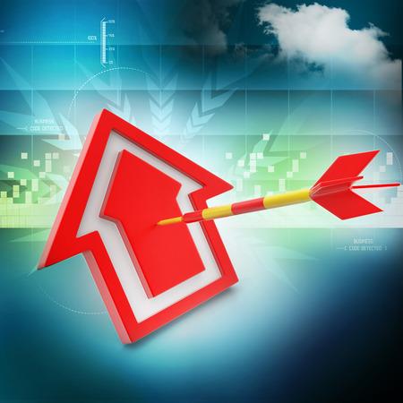 target arrow: target arrow hit the home