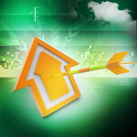 arrow home: target arrow hit the home