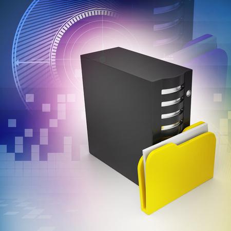Server with file folder