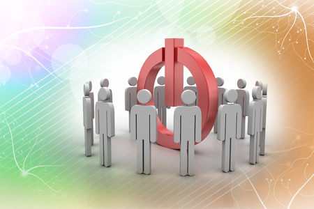 3d small people. Social network concept Stock Photo