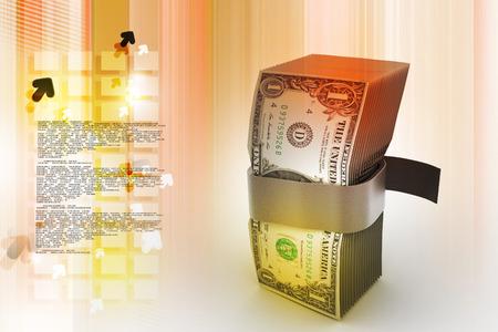 Bundle of dollar notes 스톡 콘텐츠 - 105842516