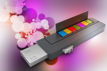 3D colourful models USB Flash Drive Banco de Imagens