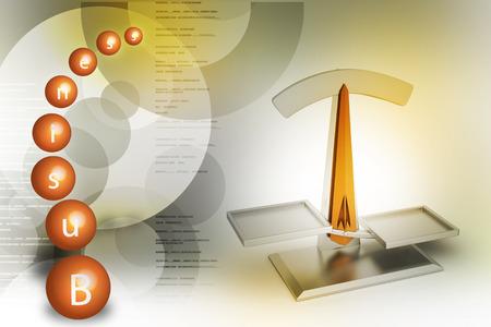 Modern scale balancing Banco de Imagens