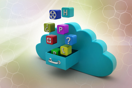 Cloud computing concept Banco de Imagens - 105843054