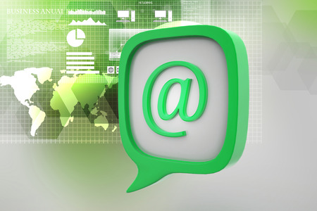 E mail icon in speech bubble