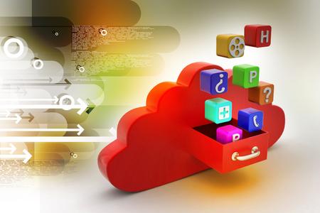 Cloud computing concept Фото со стока