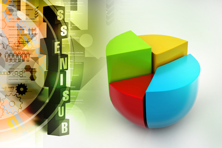 Pie chart, financial concept