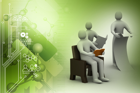 3d people reading