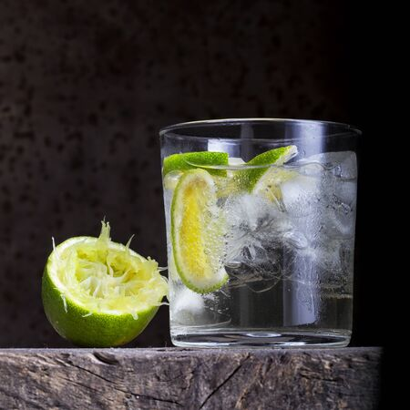 Mojito cocktail, white rum, lime