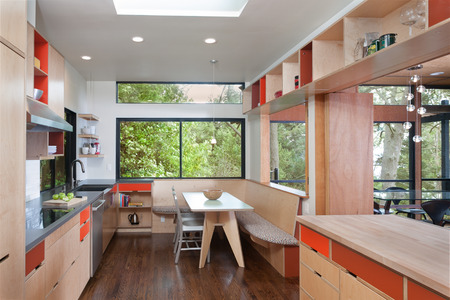 Modern Red-Orange Kitchen, Esherick House