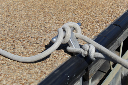 Knot tied in dock rope