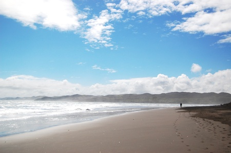 australasia: Raglan Beach, New Zealand Stock Photo