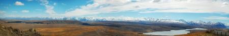 Panoramic view from Mount John photo