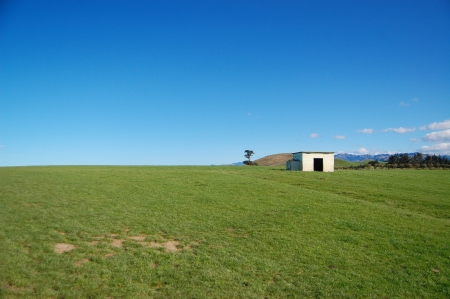 kaikoura: Small shed near Kaikoura, South Island, New Zealand