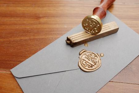 왁스 봉인 된 봉투