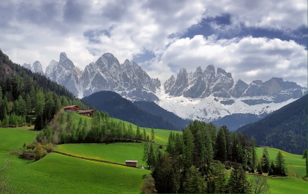 Dolomites in Spring Stock Photo