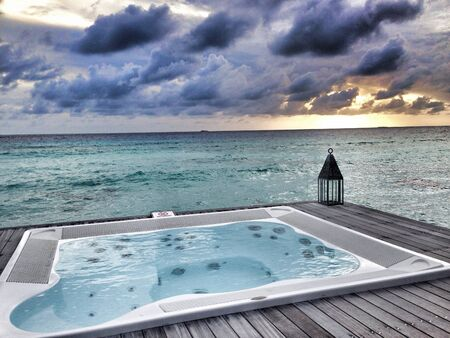 jacuzzi: A very relaxing place in maldives - Conrad resort