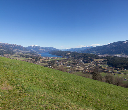 Chicken Mountain View To Lake Millstatt In Spring Stock Photo - 38937362